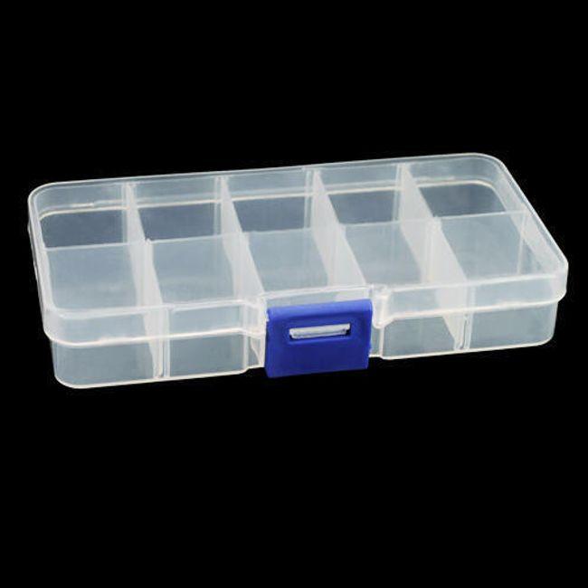 Plastikowy box z 10 przegródkami 1