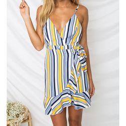 Letní mini šaty s hlubokým výstřihem - 4-velikost č. 4
