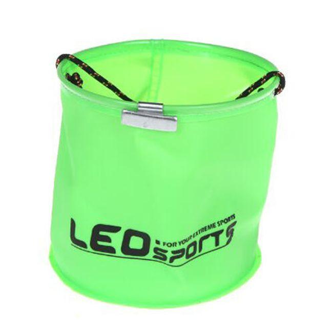 Skládací plastový kbelík s lanem 1