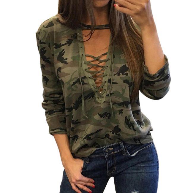 Ženska maskirna majica 1