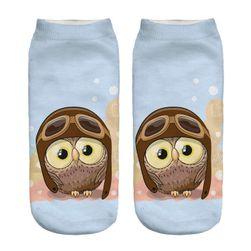 Ponožky s motivem sovy - 9 barev
