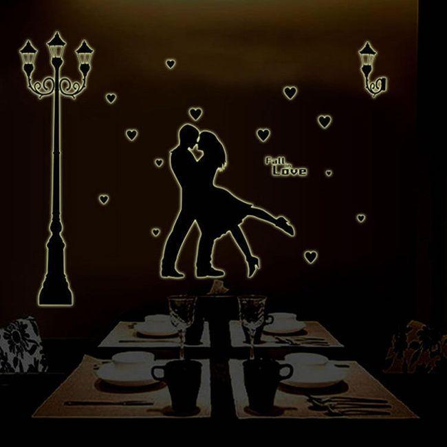 Fluoreszkáló falimatrica - szerelmes pár 1