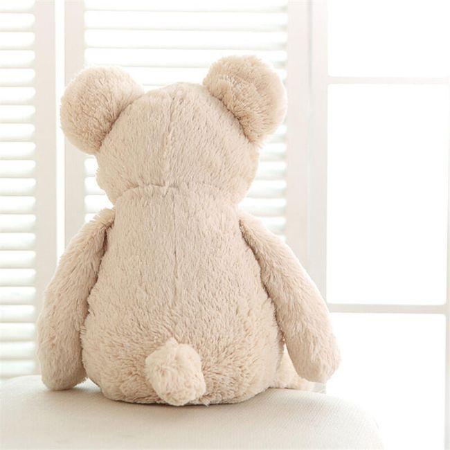 Мягкая игрушка, Медвежонок- белый с сердечком  1