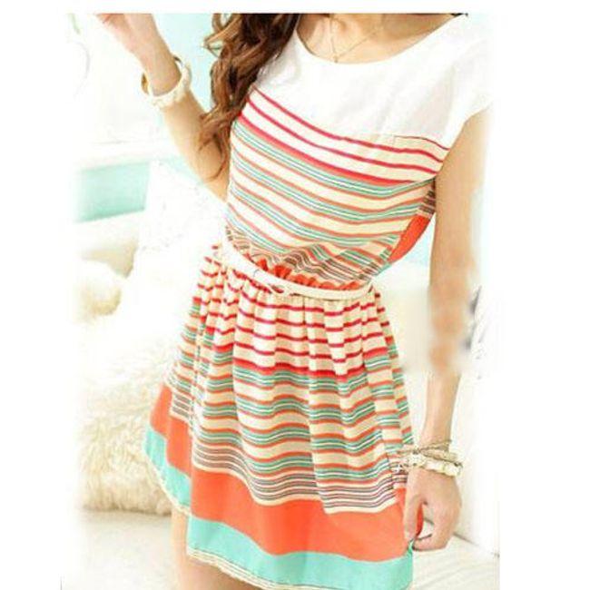 Letní šaty s pruhy z šifonu 1
