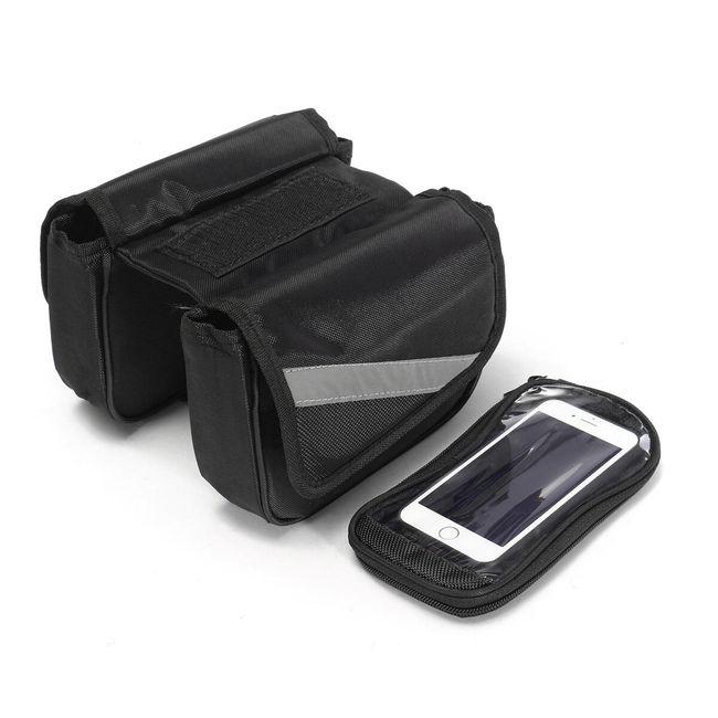 Сумка на раму велосипеда с отстегивающимся чехлом для смартфона 1