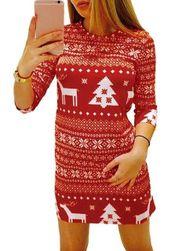 Vánoční šaty - 2 varianty Červená-velikost č. 4 Červená-velikost č. 4