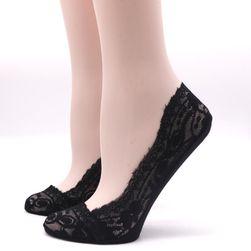 Krajkové ponožky do balerín - 3 páry