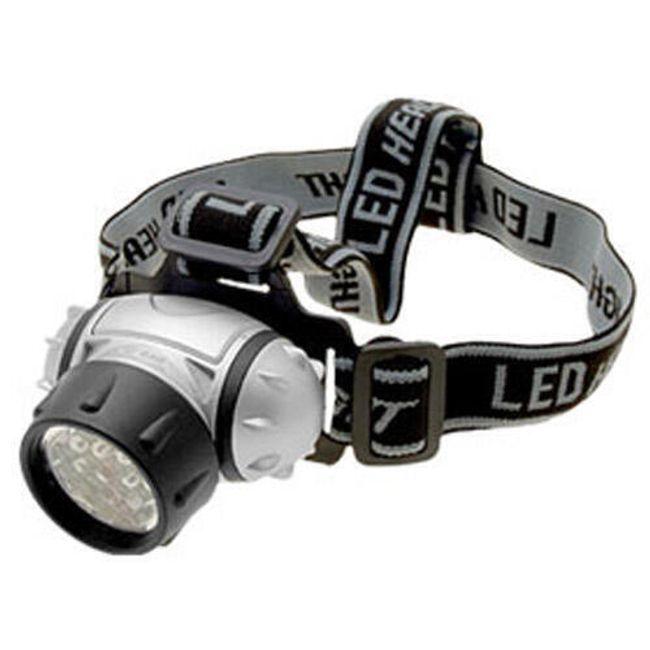 12 LED diodová čelovka na 3x AAA baterie 1