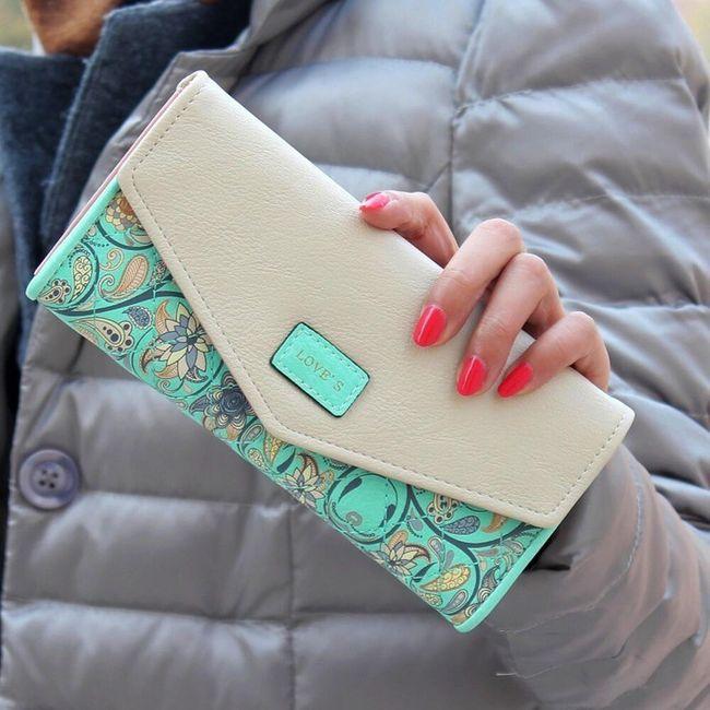 Женский кошелек украшенный цветочным орнаментом- 5 расцветок 1