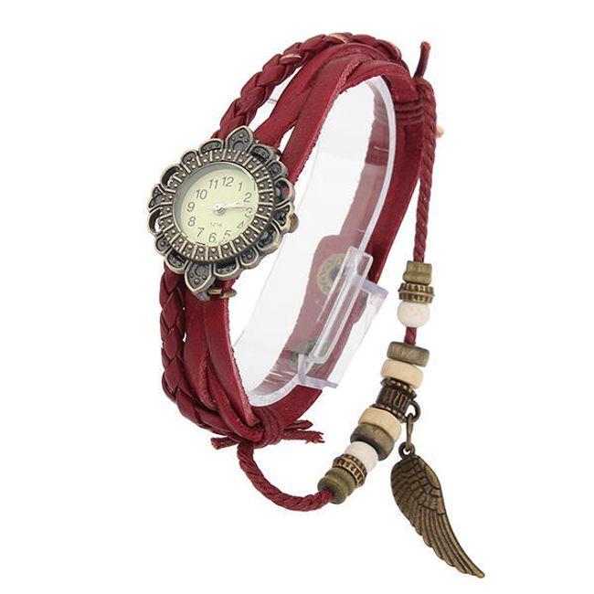 Vintage dámské hodinky s koženým páskem 1