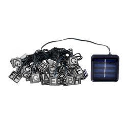 Cuburi luminoase LED cu litere pe unitatea solară
