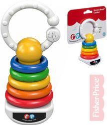 Baby chrastítko plastové kroužky na tyči pro miminko SR_103241