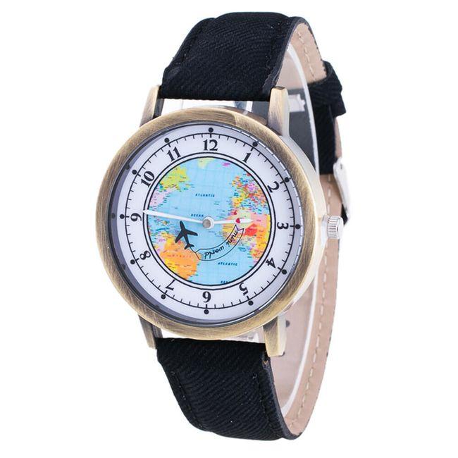 Cestovatelské hodinky s pohyblivým letadélkem 1