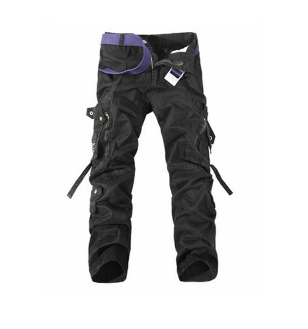 Pánské kalhoty s kapsami - Černá - 3 1