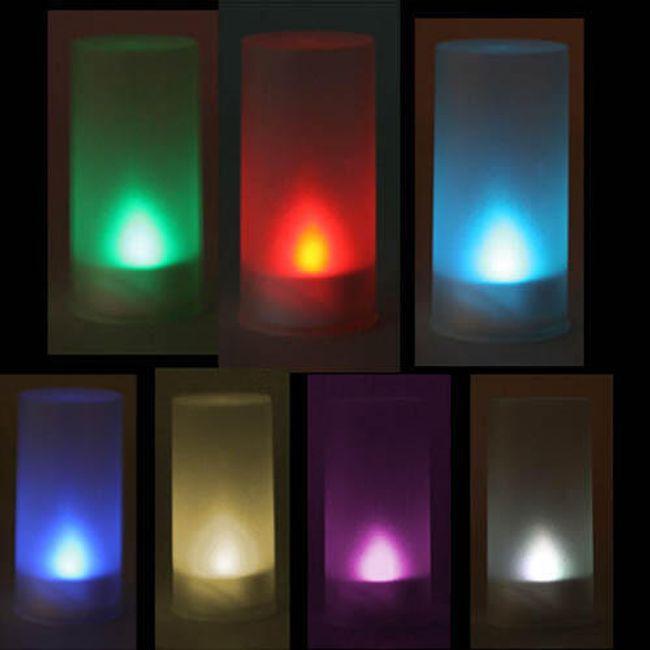 LED svíčka se sedmi variantami barevného světla 1