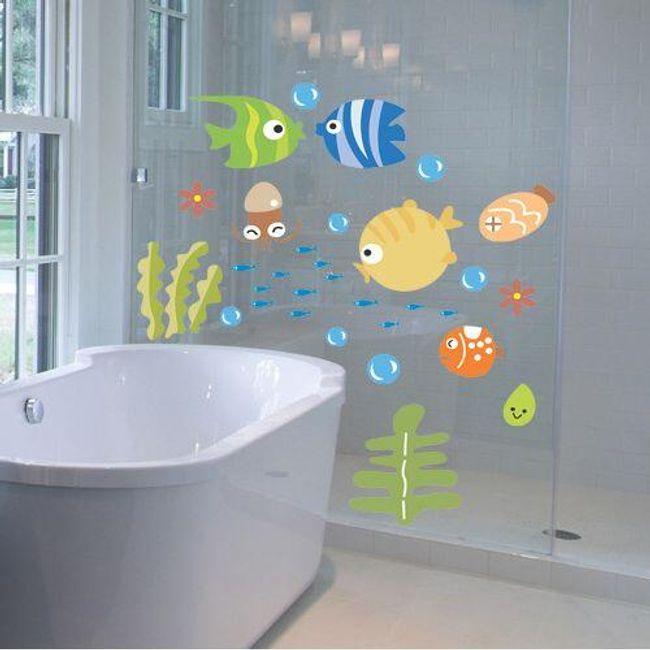 Nalepka za kopalnico - Morski svet 1
