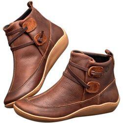 Dámské kotníkové boty Alessandra - Hnědá-39