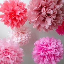 Dekorációs papír virágok - 31 változat