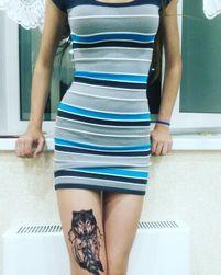Dočasné tetování s vlkem