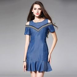Letní džínové šaty - 2 barvy