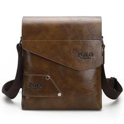 Męska business torebka w eleganckim wykonaniu - jasny brązowy