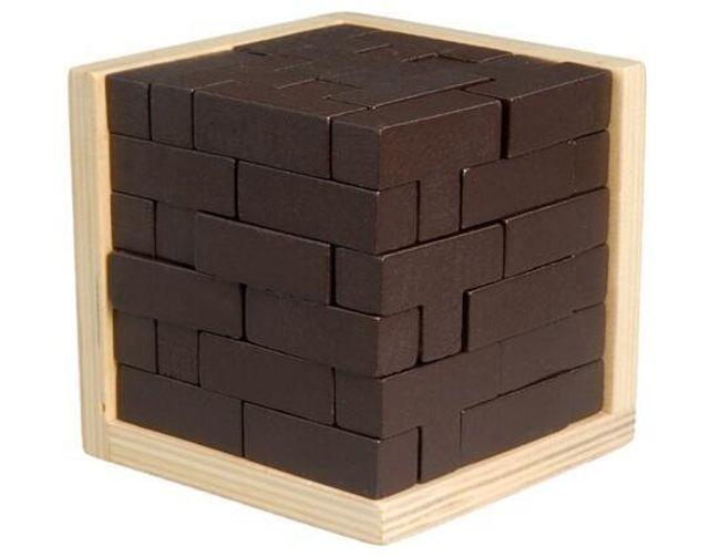 Dřevěná vzdělávací hračka - puzzle krychle 1