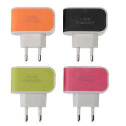 Зарядный адаптер переменного тока - 3 порта USB