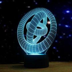 3D stolní lampa ve tvaru kruhů