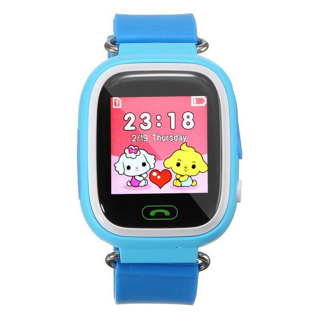 Dětské chytré hodinky s GPS - modrá 1
