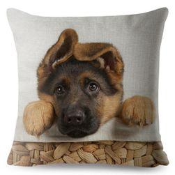 Наволочка для подушки - Немецкая овчарка, 23 варианта