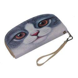 Podlouhlá peněženka s kočičkou