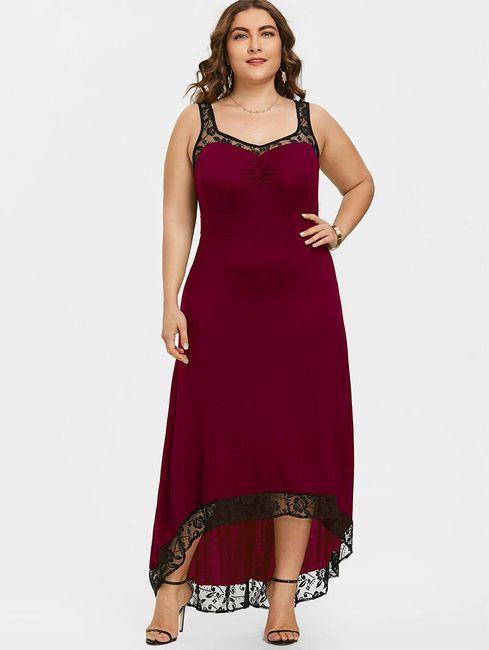 Maxi šaty v plus size velikostech - Červená-velikost č. 9 1