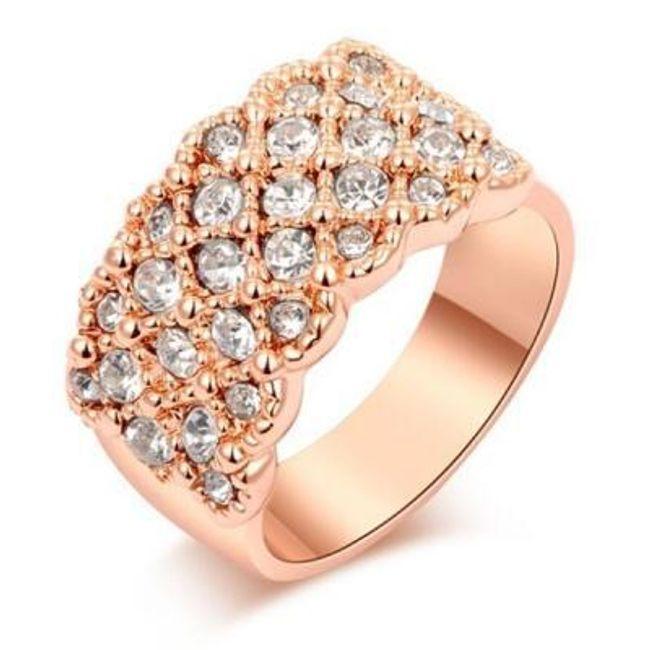 Stylový prstýnek s kamínky 1