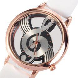 Analogowy zegarek - tarcza  w kształcie klucza wiolinowego, 2 kolory