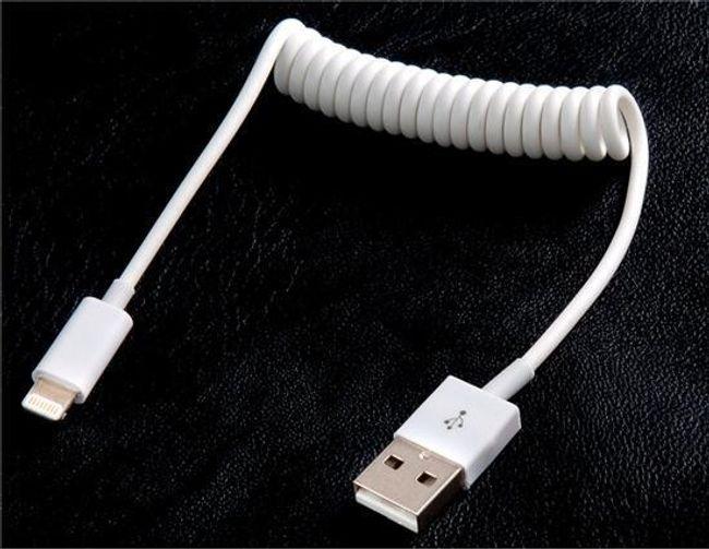 USB ładujący i datowy kabel do Apple 8-pin konektor - 20 cm 1