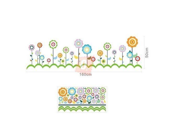 Samolepka na zeď - umělecké květiny 1