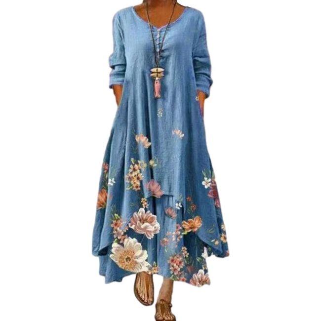 Дамска макси рокля MA41 1