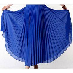 Plisowana długa spódnica - różne kolory