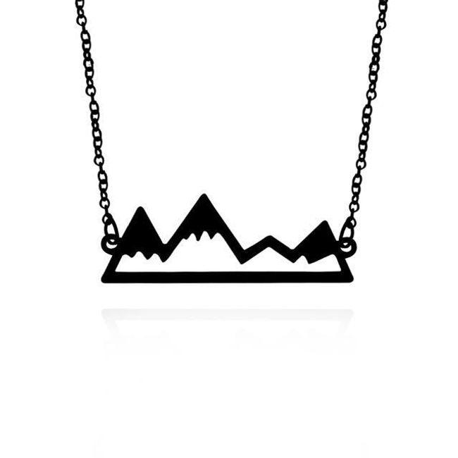 Dámská náhrdelník s přívěskem hor - 3 barvy 1