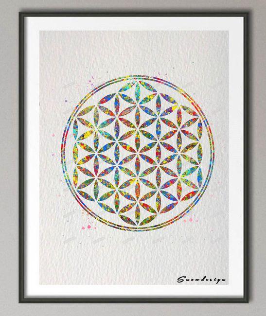 Plakát s květem života 1