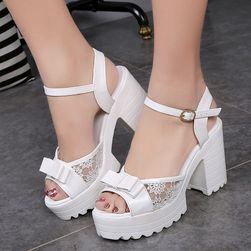 Sandale pentru femei cu platformă și toc