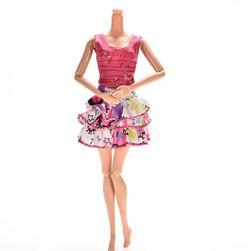 Юбка и майка для куклы Барби