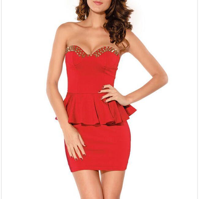 Dámské pouzdrové šaty s volánkem - ve 4 barvách 1