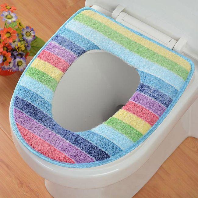 Plišasta prevleka za toaletno desko - 4 barve 1