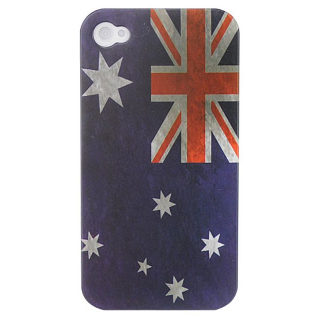 Plastový ochranný kryt na iPhone 4 a 4S - vlajka Austrálie 1