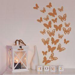 3D motýl - bronzová perleť 2 kompletní sety (16 ks motýlů) Set - 3 kompletní sety (24 ks motýlů) Set SR_1020002