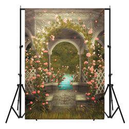 Stúdió fotó háttér 210 x 150 cm - Rózsaszín pavilon