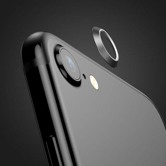 Kovová krytka na čočku fotoaparátu pro iPhone 7 1