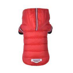Nepremočljiva jakna za pse rdeča_velikost št. 1