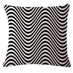 Черно-бяла калъфка за възглавница